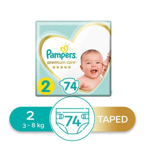 Premium Care Diapers - Size 2 - 74 Pcs