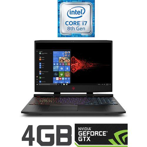 HP Omen 15-dc0014ne لاب توب للأعاب - Intel Core I7 - 16 جيجا بايت رام - 1 تيرا بايت درايف هارد ديسك + 256 جيجا بايت SSD - 15.6 بوصة UHD - 6 جيجا بايت مُعالج رسومات - Windows 10 - أسود