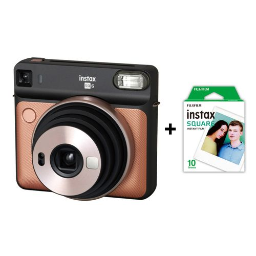 product_image_name-Fujifilm-Instax Square SQ6 Camera - Blush Gold - with 10 Sheets Film-1