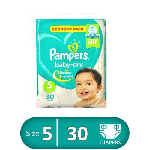Junior Baby Dry Diapers - Size 5 - 30 Pcs
