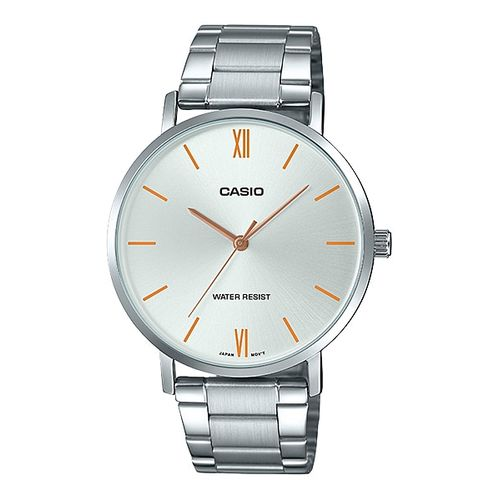 Casio Analog White Dial Men's Watch-MTP-VT01D-7BUDF