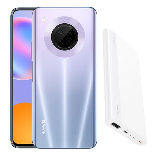 Huawei Y9a - 6.63-inch 128GB/8GB 4G Mobile Phone - Space Silver + Free 10000 mAh Power Bank
