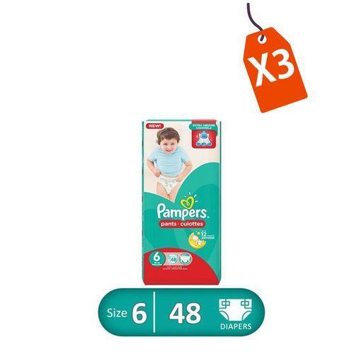 Pants Diapers - Size 6 - Midi - 48 Pcs - 3 Packs