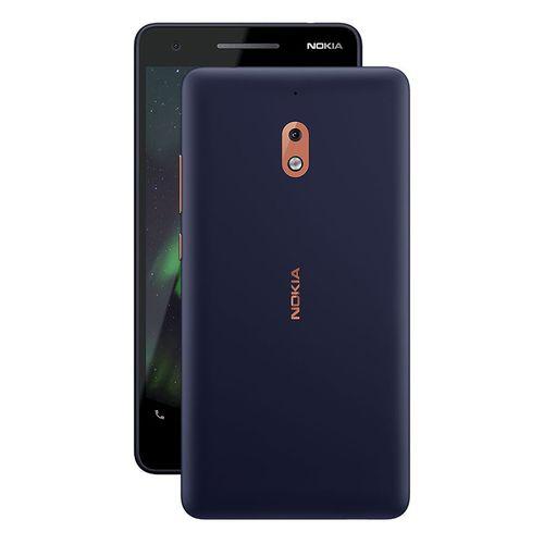 Nokia 2.1 موبايل 5.5 بوصة - 8 جيجا بايت - ثنائي الشريحة - أزرق/ نحاسي