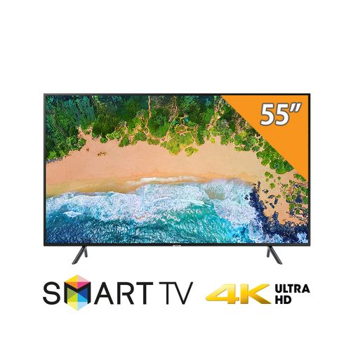 Samsung UA55NU7100 تلفزيون سمارت- 55 بوصة UHD 4K مع ريسيفر مدمج
