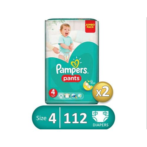 Baby Pants Diapers - Size 4 - 56 Pcs - 2 Packs