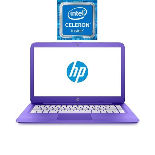 HP لاب توب Stream 14-cb113wm - Intel Celeron - رام 4 جيجا بايت - ذاكرة EMMC 32 جيجا بايت - شاشة HD 14 بوصة - معالج رسومات Intel - Windows 10 - بنفسجي