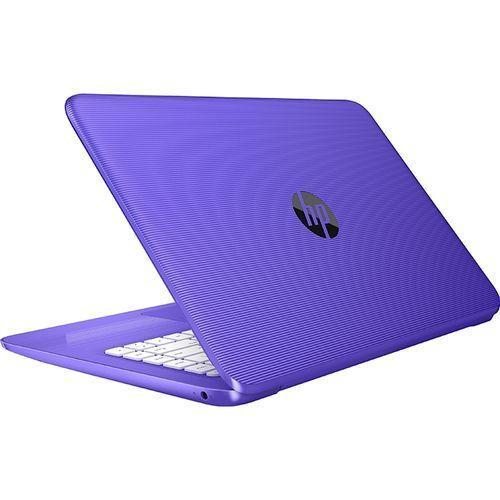 HP لاب توب Stream 14-cb113wm - Intel Celeron - رام 4 جيجا بايت - ذاكرة EMMC 32 جيجا بايت - شاشة HD 14 بوصة - معالج رسومات Intel - Windows 10 - بنفسجي