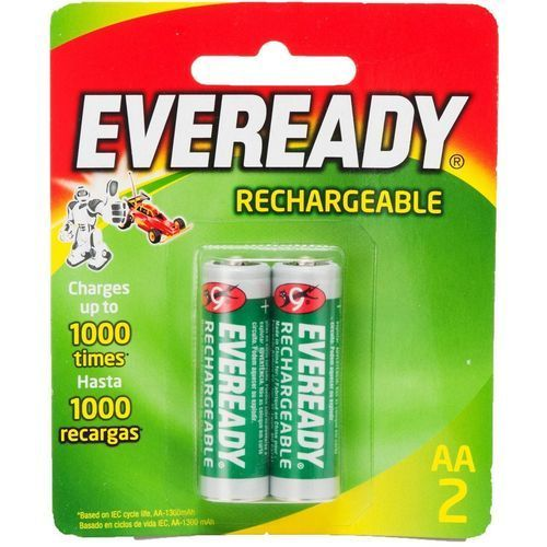 2 AA Rechargable Batteries - 1300 Mah - 2pcs