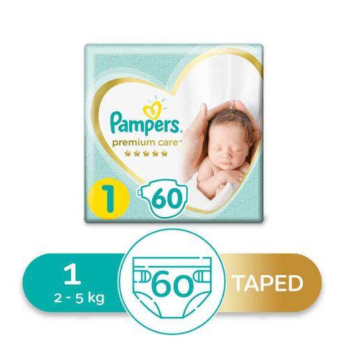 Premium Care Diapers - Size 1 - 60 Pcs