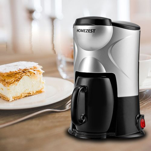 product_image_name-Generic-HOMEZEST 220V/300W Household Mini Drip Coffee Maker Single Cup Coffee Machine Hourglass Coffee 150ml With Ceramic Cup CM-801-1