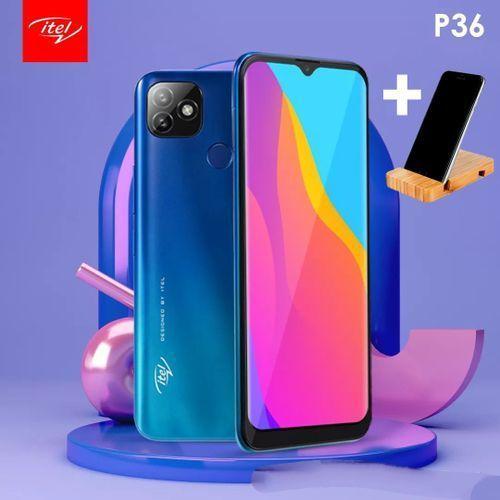 P36 Dual SIM - 6.5 Inch- 5000MAH -Gradation Blue +free Mobile Holder