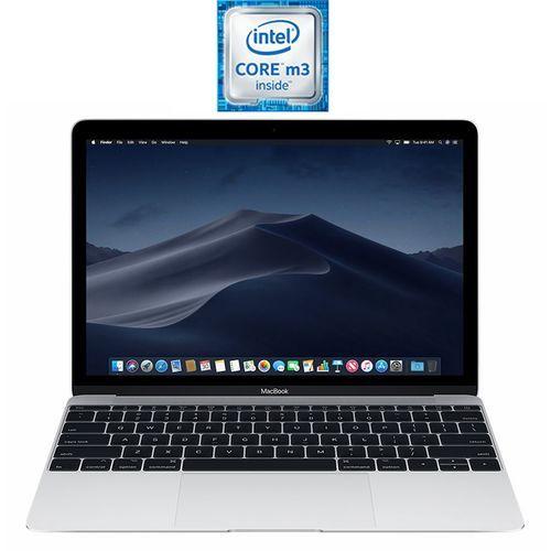 Apple MacBook 12 - Intel Core m3 - 8 جيجا بايت رام - 256 جيجا بايت فلاش - 12-بوصة Retina شاشة - Intel مُعالج رسومات - MacOS - فضي - لوحة مفاتيح باللغة الأنجليزية