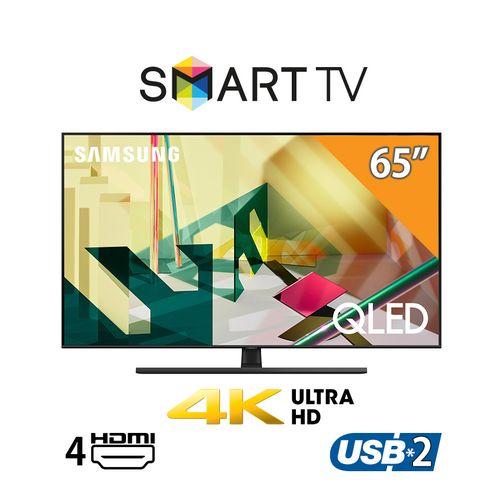 شاشة سمارت QLED مسطح 65 بوصة بدقة 4K UHD + - شاشة سمارت عالي الدقة 32 بوصة