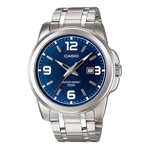 Casio ساعة ستانليس ستيل MTP-1314D-2AVDF - فضى