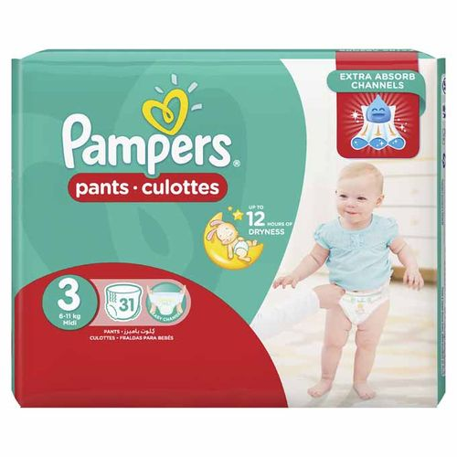 Baby Pants Diapers – Size 3 – 31 Pcs