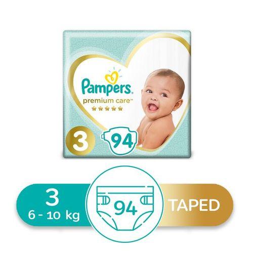 Premium Care Diapers - Size 3 - 94 Pcs
