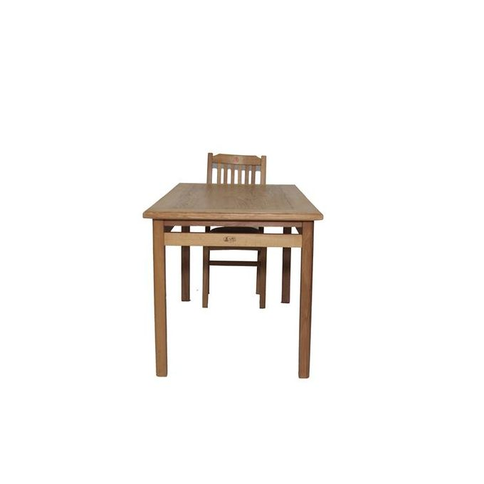 Shop Art Home Wooden Dinning Table With 6 Chairs –140Cm