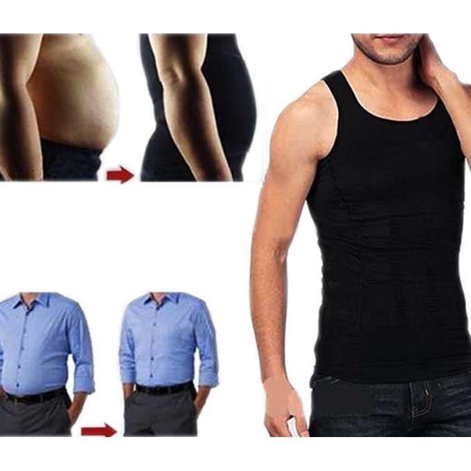 AS SEEN ON TV Mens White//Black Nylon Slim Fitness Vest