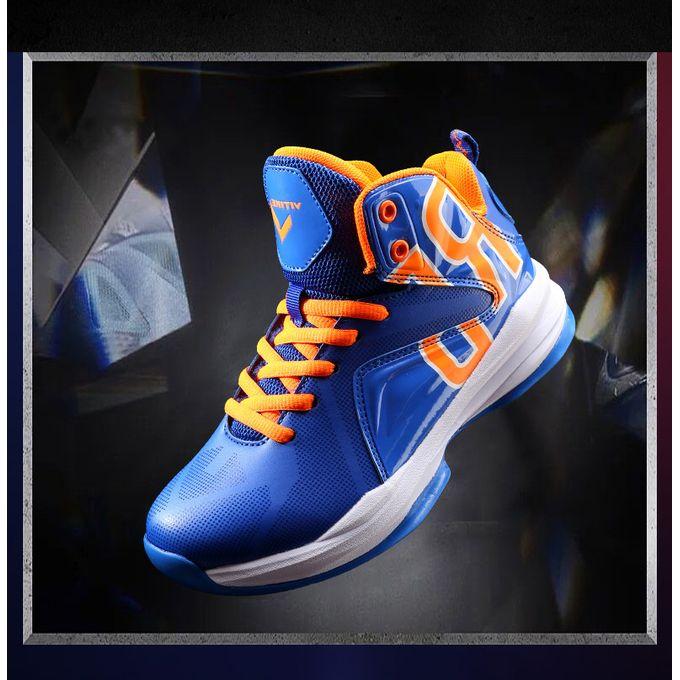 Shop VITIKE Boy's Blue Basketball Shoes