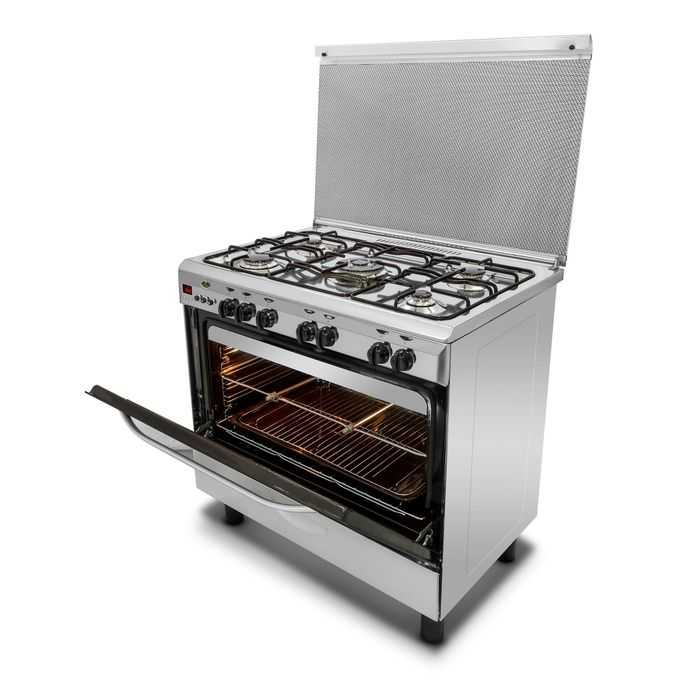 product_image_name-Kiriazi-9604 Gas Stainless Steel Cooker With Fan - 5 Burners-2