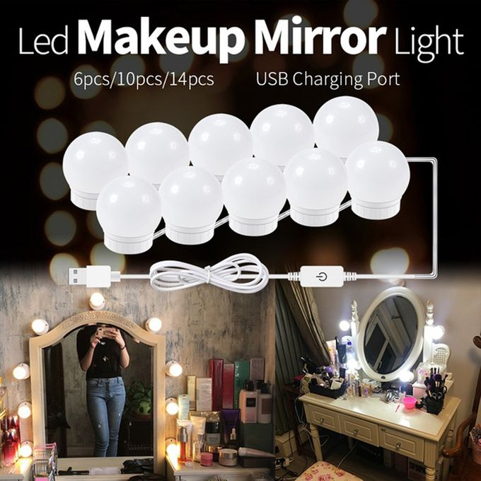 Generic Led Vanity Mirror Lights Kit, Makeup Mirror Light Kit