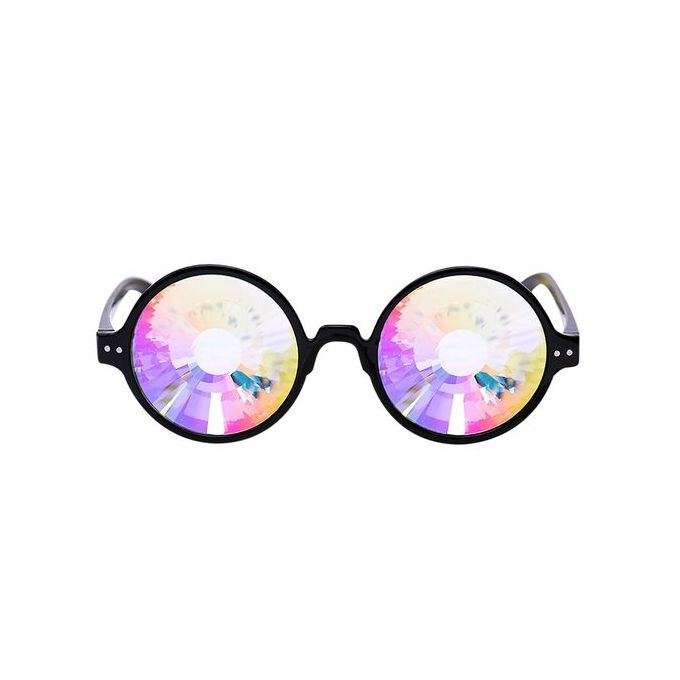 Kaleidoscope Colorful Glasses Rave Festival Party EDM Diffracted Lens Sunglasses