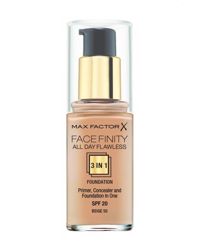 Face Finity 3 IN 1 Foundation - 55 Beige
