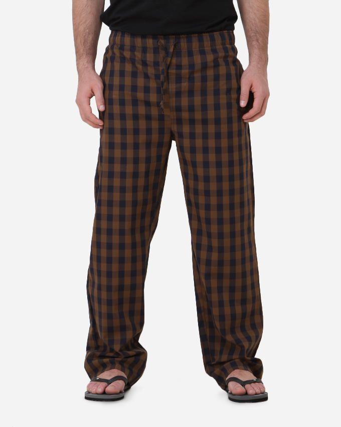 Kaf Antakha checked home pants - Blue/Bronze