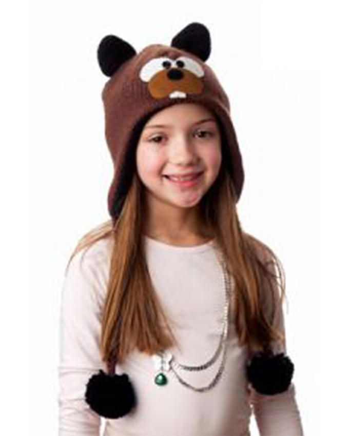 Panda Hats HB-WH065 Knit Eager Beaver - Brown