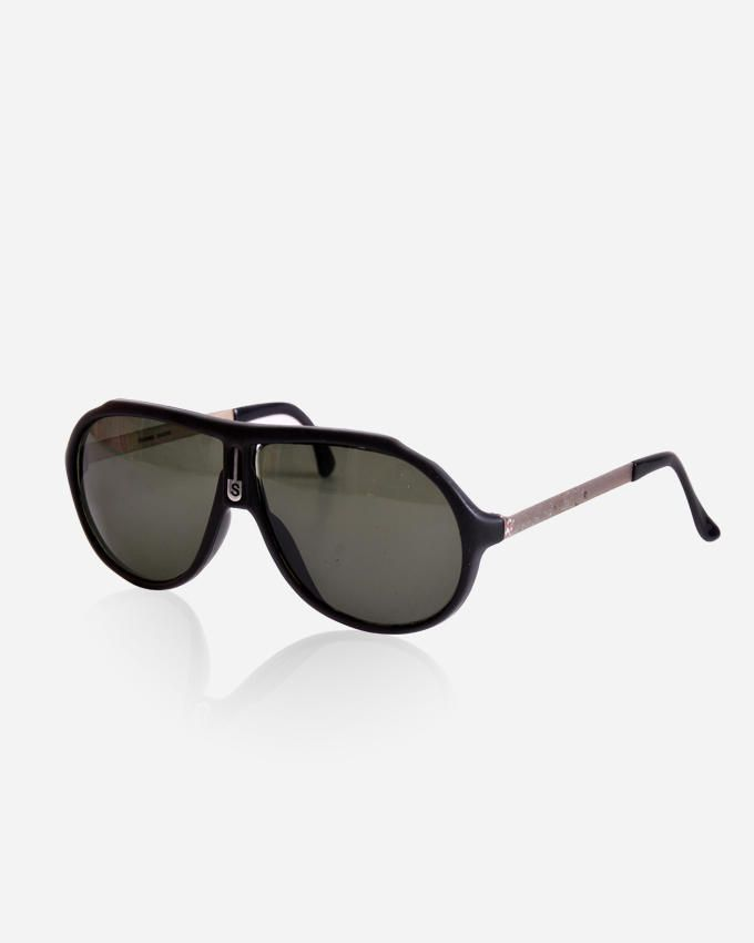 Ticomex Aviator Style men's Sunglasses - Black Frame with Silver Handles