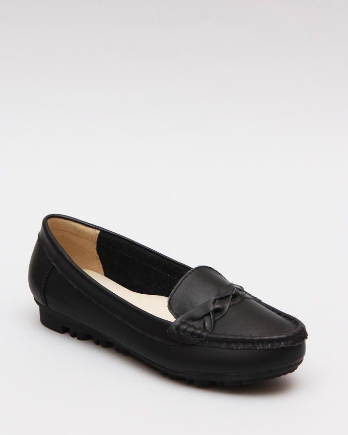 Mr. Joe Upper Braid Slip On Shoes - Black
