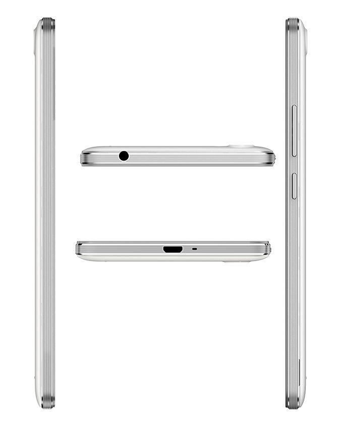 W5 - 5.5 - 4G Dual SIM Mobile Phone - Pearl White