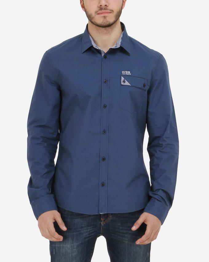 Guess Laguna Poplin Shirt - Indigo Blue