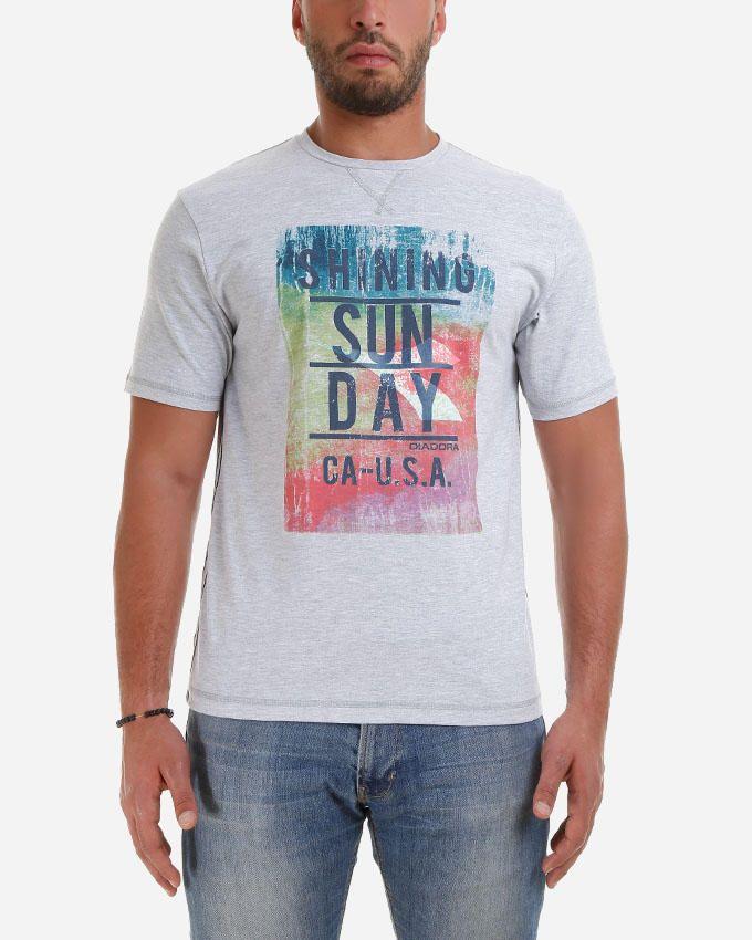 Diadora Men T-shirt -Grey