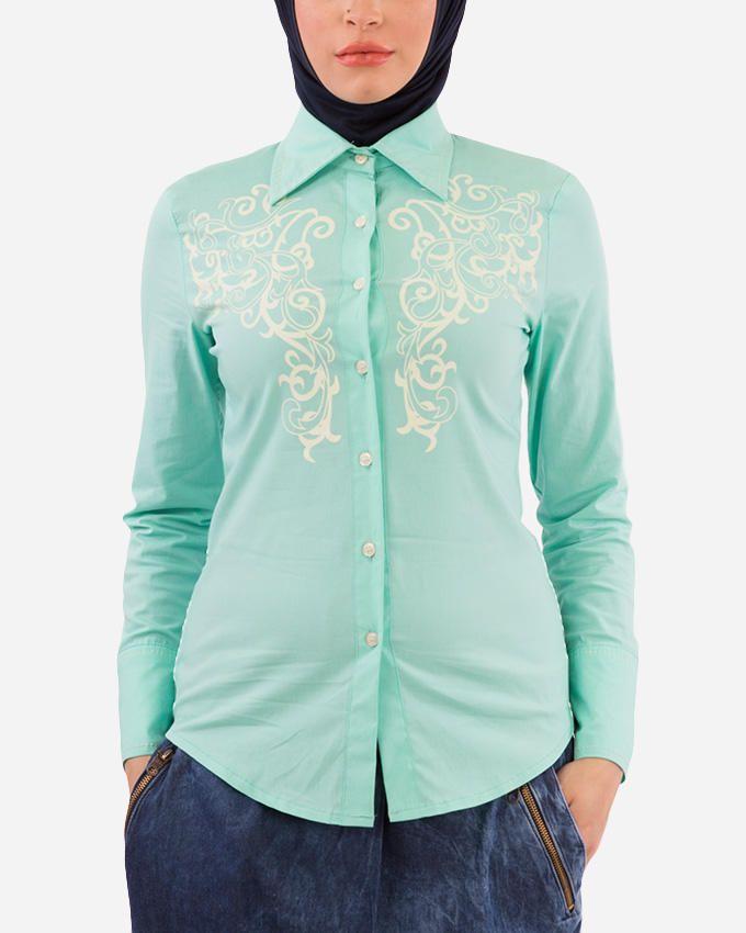 Glow Imprinted Shirt  - Mint Green