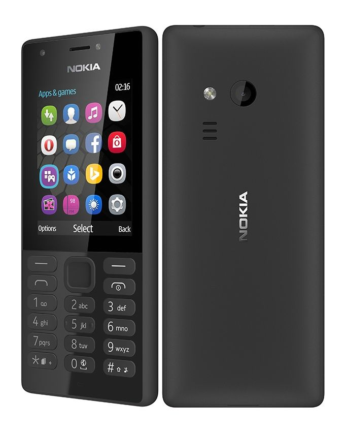 216 - 2.4 Dual SIM Mobile Phone - Black