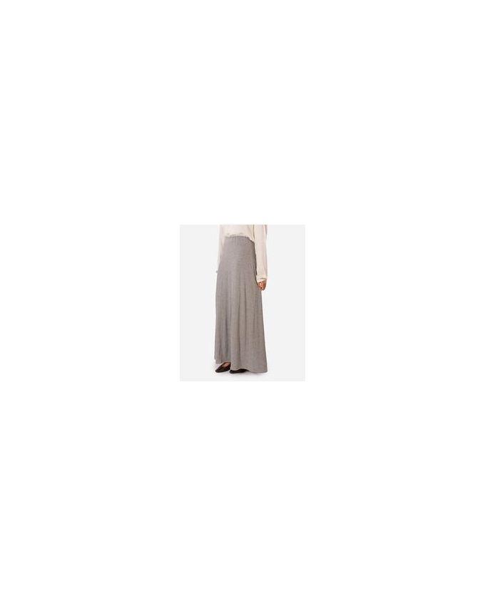 Rehan Grey Lycra Cotton Skirt
