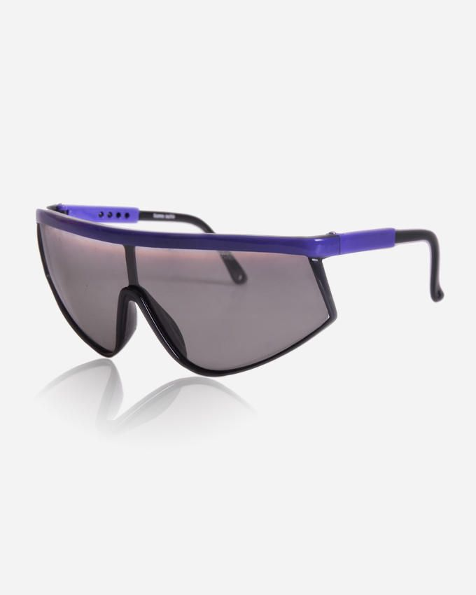 Ticomex Shield Unisex Sunglasses - Black x Purple logo