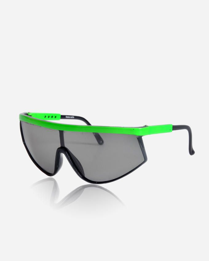 Ticomex Shield Unisex Sunglasses - Black x Green
