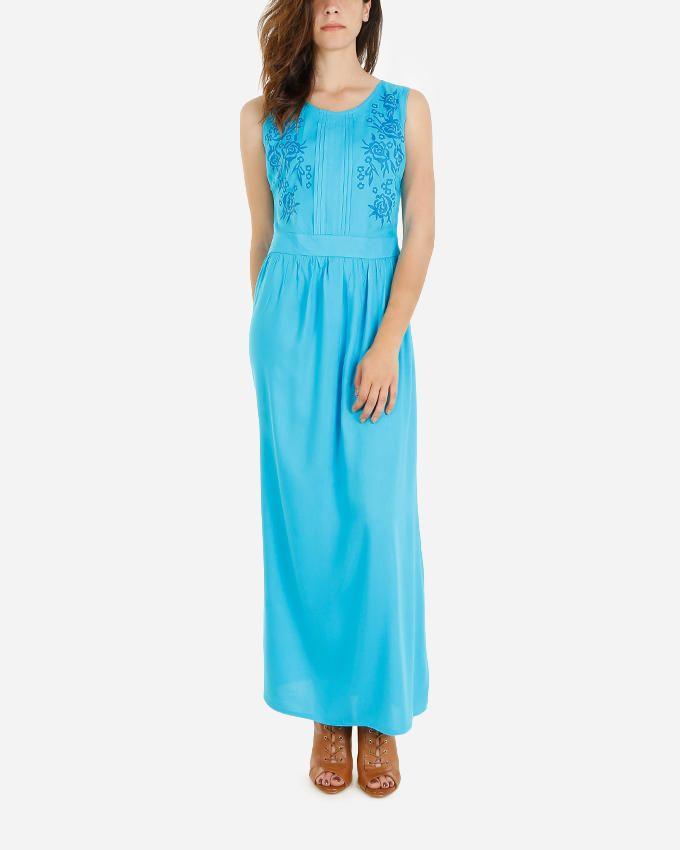 Giro Printed Maxi Dress - Turquoise