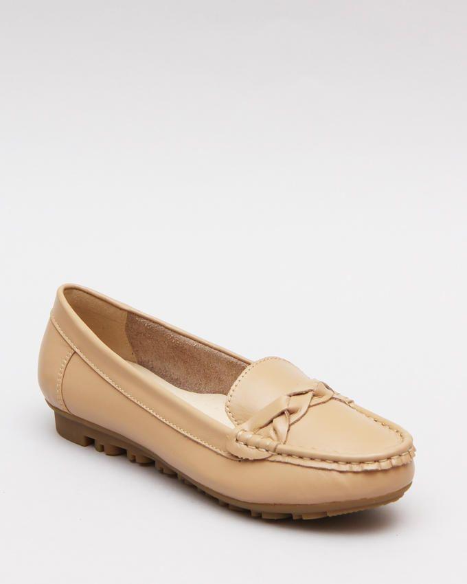 Mr. Joe Upper Braid Slip On Shoes - Creamy