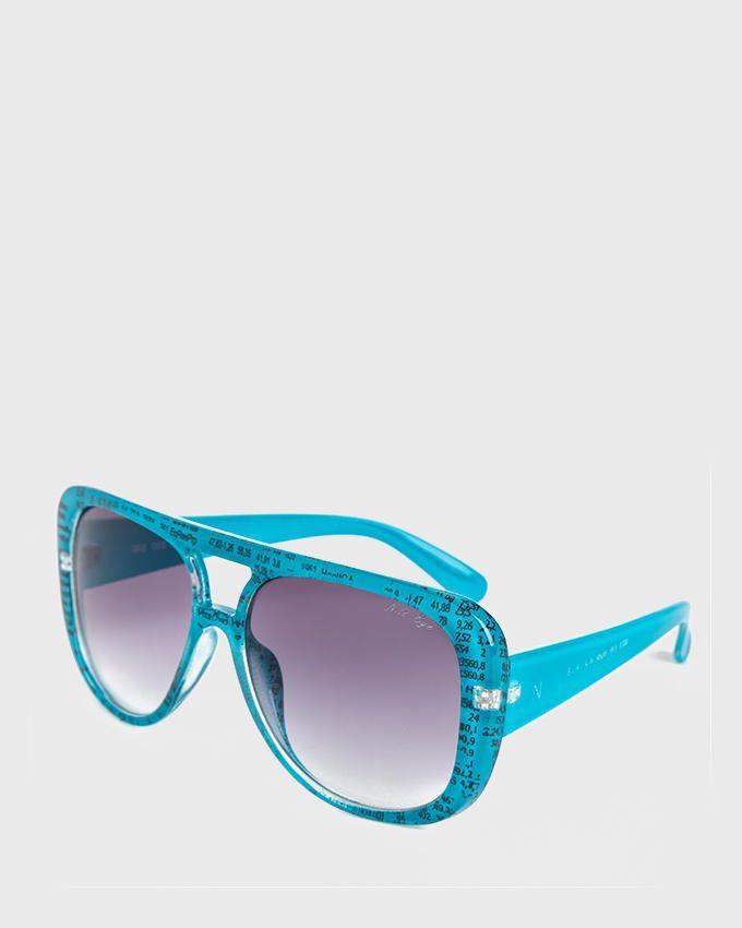 Nile Digits Oversized Sunglasses - Turquoise