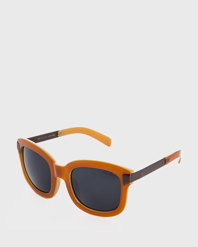 Nile Women Round Sunglasses - Havana Orange