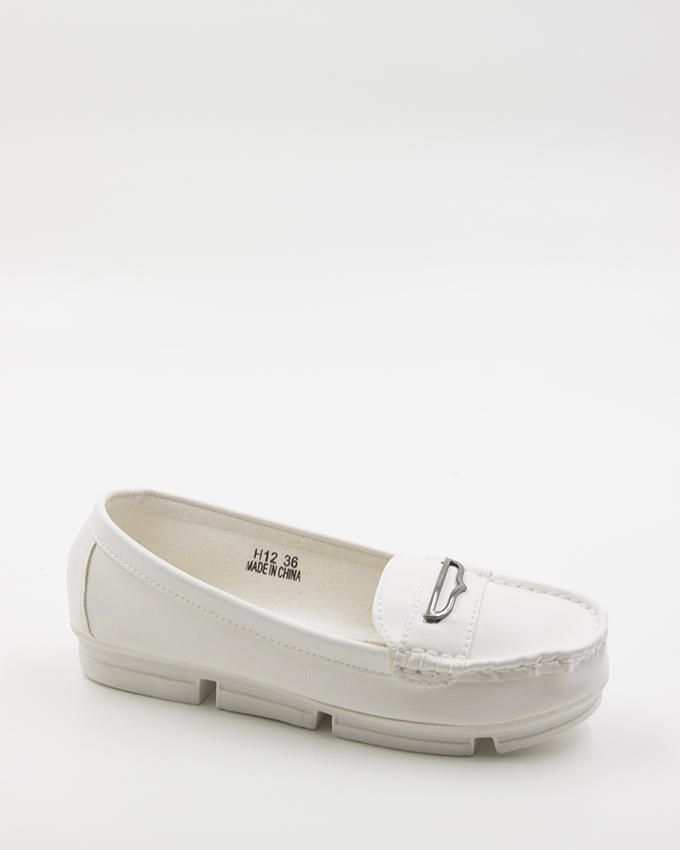 Walkies White PU Leather Shoes