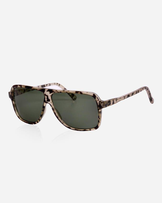 Ticomex Shield Unisex Sunglasses - Green Crystal x Black
