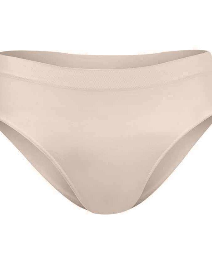 Silvy Beige Lycra Bikini Underwear
