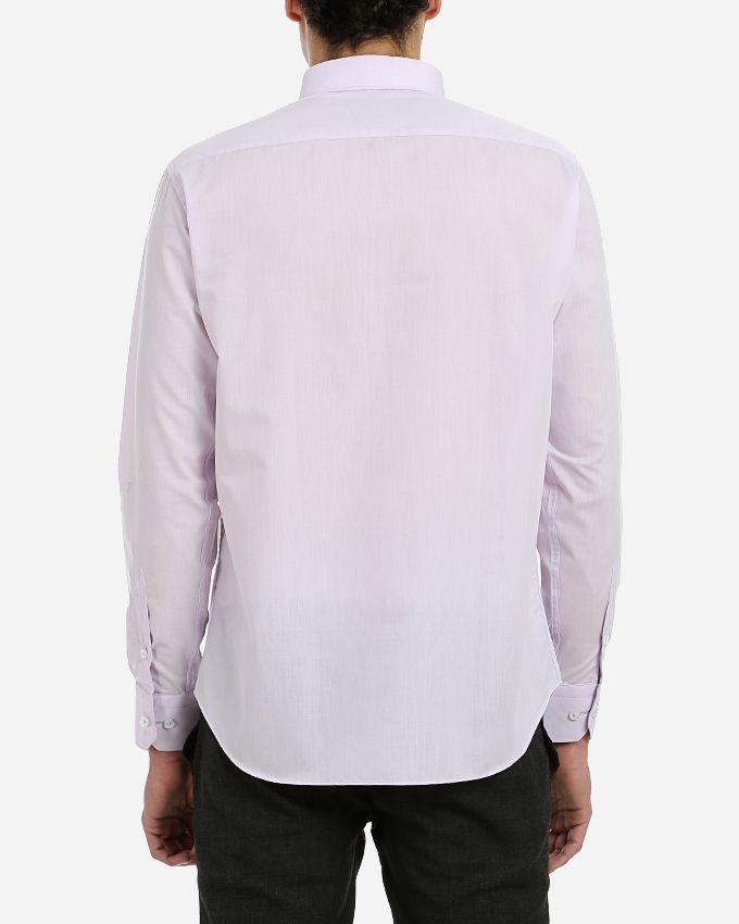 Casual Buttoned Shirt - Light Purple