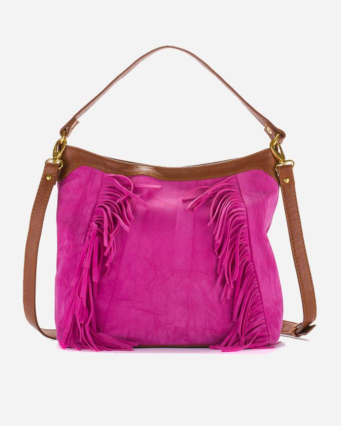 Deeda Hippie Hand Bag - Fuchsia
