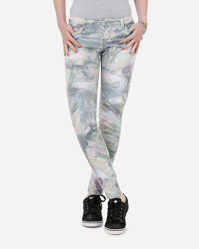 Guess Beverly Jungle Pant - Multicolor